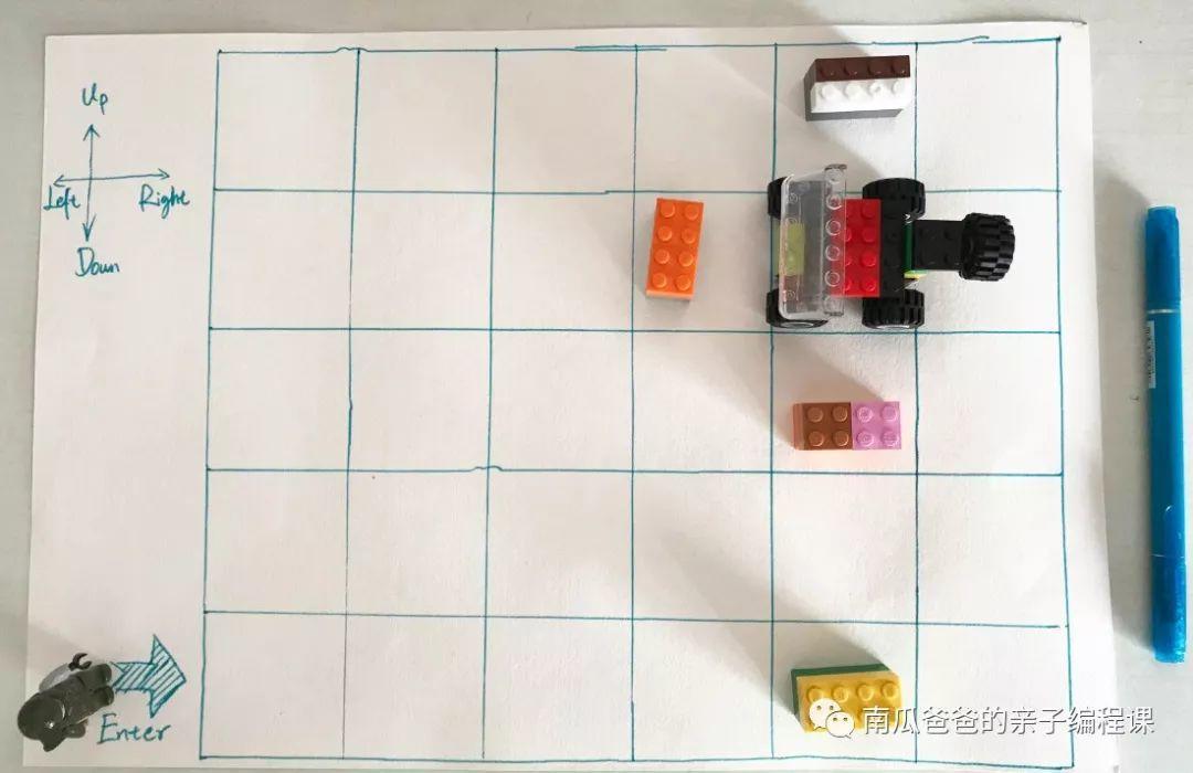 不用电脑和手机,一个游戏带着娃儿第一次体验编程 | 南瓜爸爸第二课