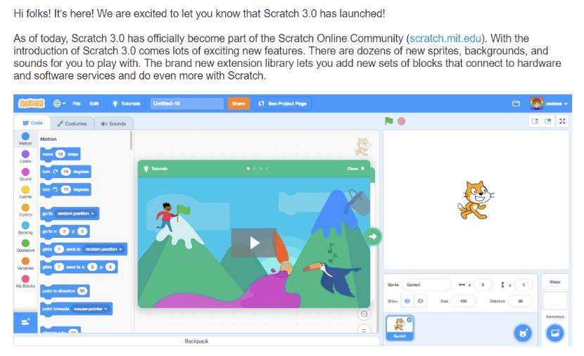 Scratch3.0发布!用它学编程创作,05后个个都是技术流